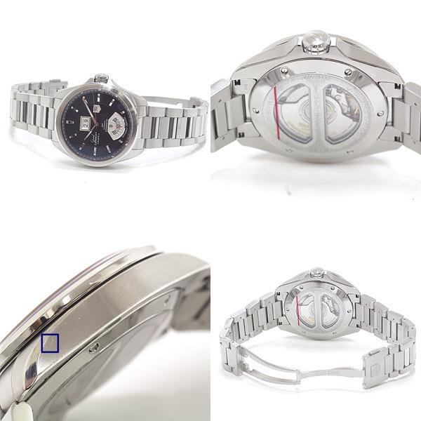 TAG HEUER タグホイヤー メンズ腕時計 グランドカレラ GMTキャリバー8 WAV5113 ブラウン文字盤 自動巻き【中古】_画像3