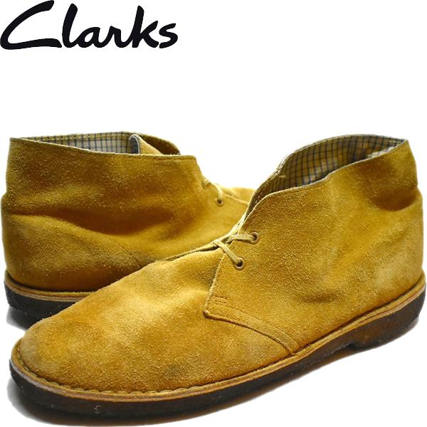 1点物◆クラークスClarksデザートブーツ古着メンズ27.5レディースOKアメカジ90sストリート/スポーツMix革靴スエードレザーシューズ881288_画像1