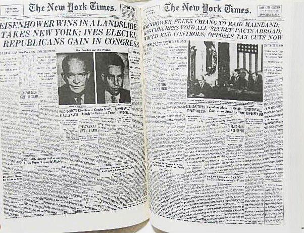 ☆洋書 The New York Times PAGE ONE COMMEMORATIVE EDITION 1896-1996 ニューヨークタイムズ1896-1996 一面縮刷集★_画像6