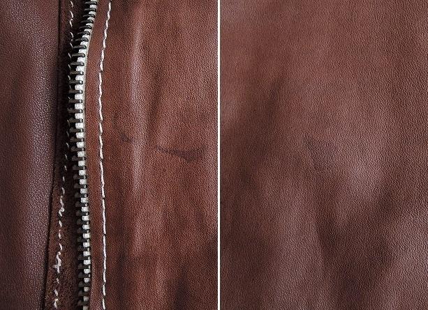 ■シシ Sisii シングルレザーライダースジャケットXXS皮革ブルゾンアウターブラウン系レディース0919【42I91】_画像7