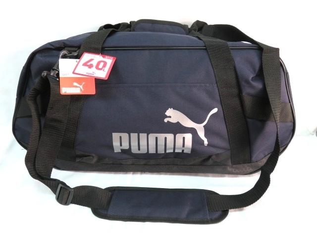 1 プーマ PUMA ボストンバッグ スポーツバッグ ブランド ネイビー ブラック ショルダー付 59cm 40L メンズ ボーイズ 旅行 人気 ジム_画像1