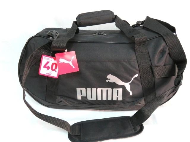 2 プーマ PUMA ボストンバッグ スポーツバッグ ブランド 黒 ブラック ショルダー付 59cm 40L メンズ ボーイズ 旅行 人気 ジム スポーツ_画像1