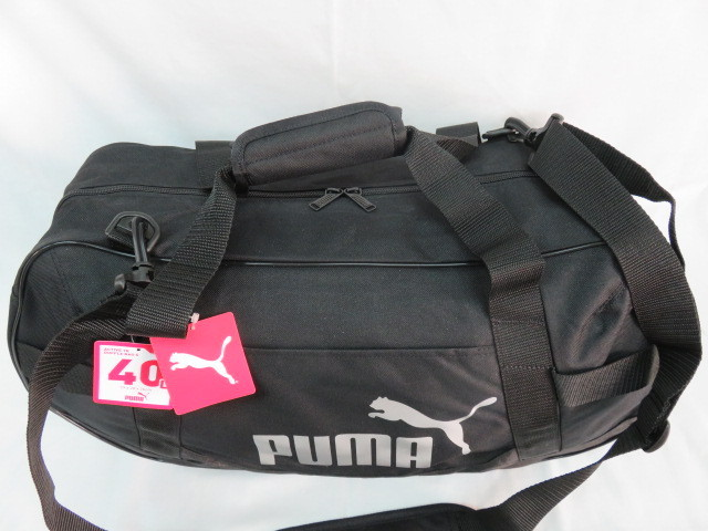 2 プーマ PUMA ボストンバッグ スポーツバッグ ブランド 黒 ブラック ショルダー付 59cm 40L メンズ ボーイズ 旅行 人気 ジム スポーツ_画像2
