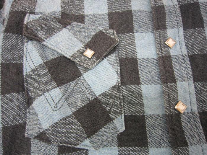 WEST RIDE ウエストライド チェック ウエスタン ネルシャツ size34_画像3