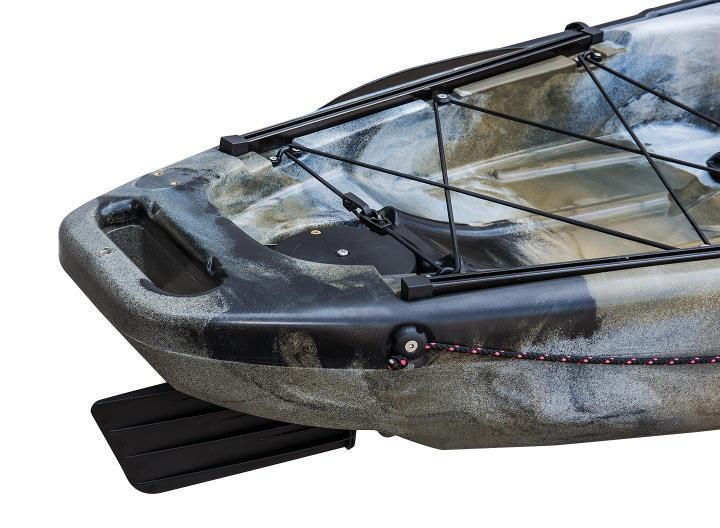 最後の1艇なので大幅値引き☆足漕ぎタイプのフィッシングカヤック(プロペラ式)13ft (397cm)☆イエロー×オレンジ☆受取日は問合せ下さい☆_ラダー付近の画像です。