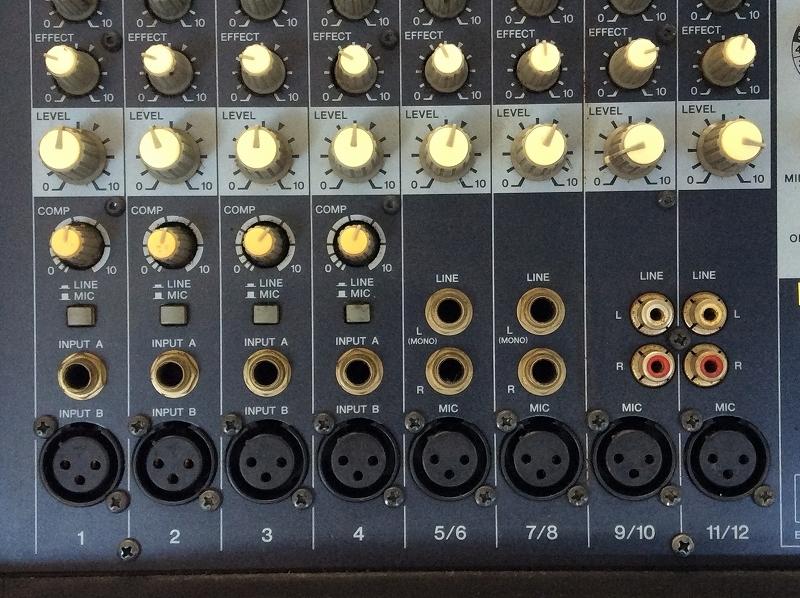 【YAMAHA/ヤマハ/パワードミキサー/EMX312SC/ボックス型】レコーディングスタジオステージ_画像3