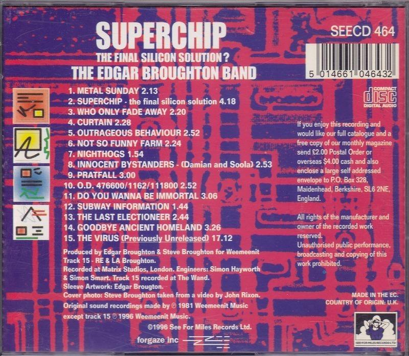 エドガー・ブロートン・バンド EDGAR BROUGHTON BAND - SUPERCHIP/EU盤/中古CD!! 商品管理番号:41154_画像3