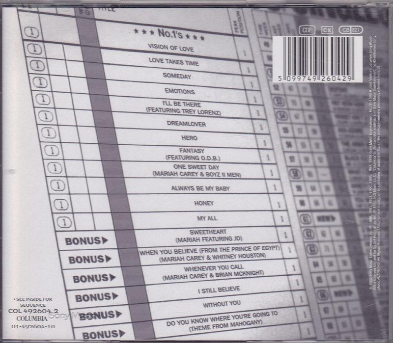 マライア・キャリー MARIAH CAREY - #1's/EU盤/中古CD!! 商品管理番号:41086_画像2
