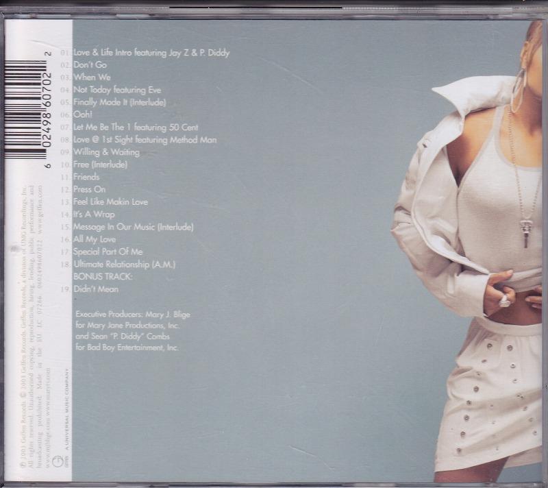 メアリー・J.ブライジ Mary J. Blige - Love & Life/EU盤/中古CD!! 商品管理番号:41083_画像2