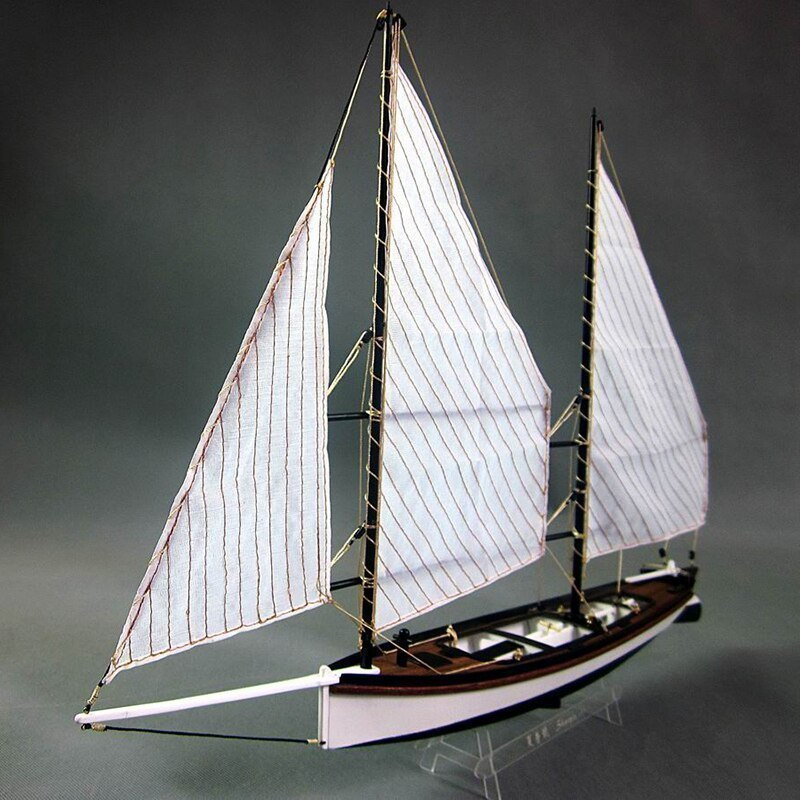 【送料無料/税込】 シャーピー 1/24スケール 船 帆船 ボート ヨット 木製 模型 モデルキット プラモデル キット 組み立て式【領収発行可】_画像2