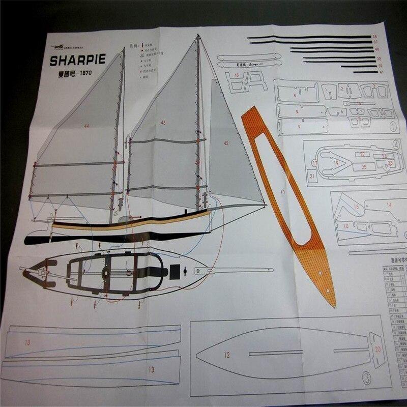 【送料無料/税込】 シャーピー 1/24スケール 船 帆船 ボート ヨット 木製 模型 モデルキット プラモデル キット 組み立て式【領収発行可】_画像5