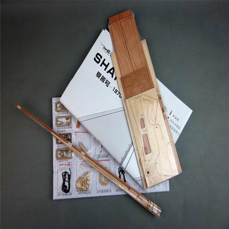 【送料無料/税込】 シャーピー 1/24スケール 船 帆船 ボート ヨット 木製 模型 モデルキット プラモデル キット 組み立て式【領収発行可】_画像4