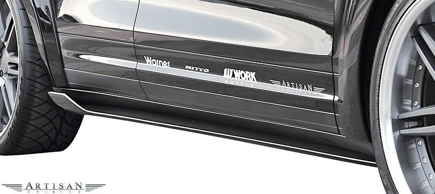 【M's】PORSCHE CAYENNE 958 V6用 (2010.3-) ARTISAN SPIRITS フルエアロ 4点 (F+S+R+RGS)//FRP カスタム アーティシャンスピリッツ_画像6