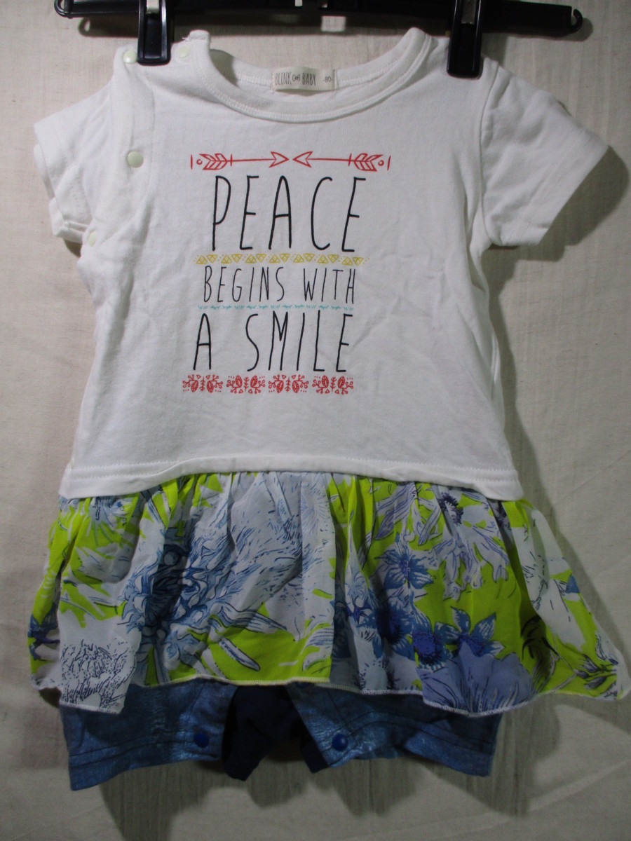 【BLINK BABY】free-size-fits-all 80 colors white 身丈 43/FAF