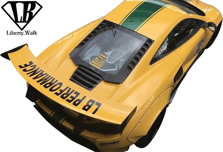 【M's】マクラーレン 650S (2014y-2018y) Liberty Walk LB-WORKS サイドディフューザー 左右//FRP製 未塗装品 エアロ リバティーウォーク_画像9