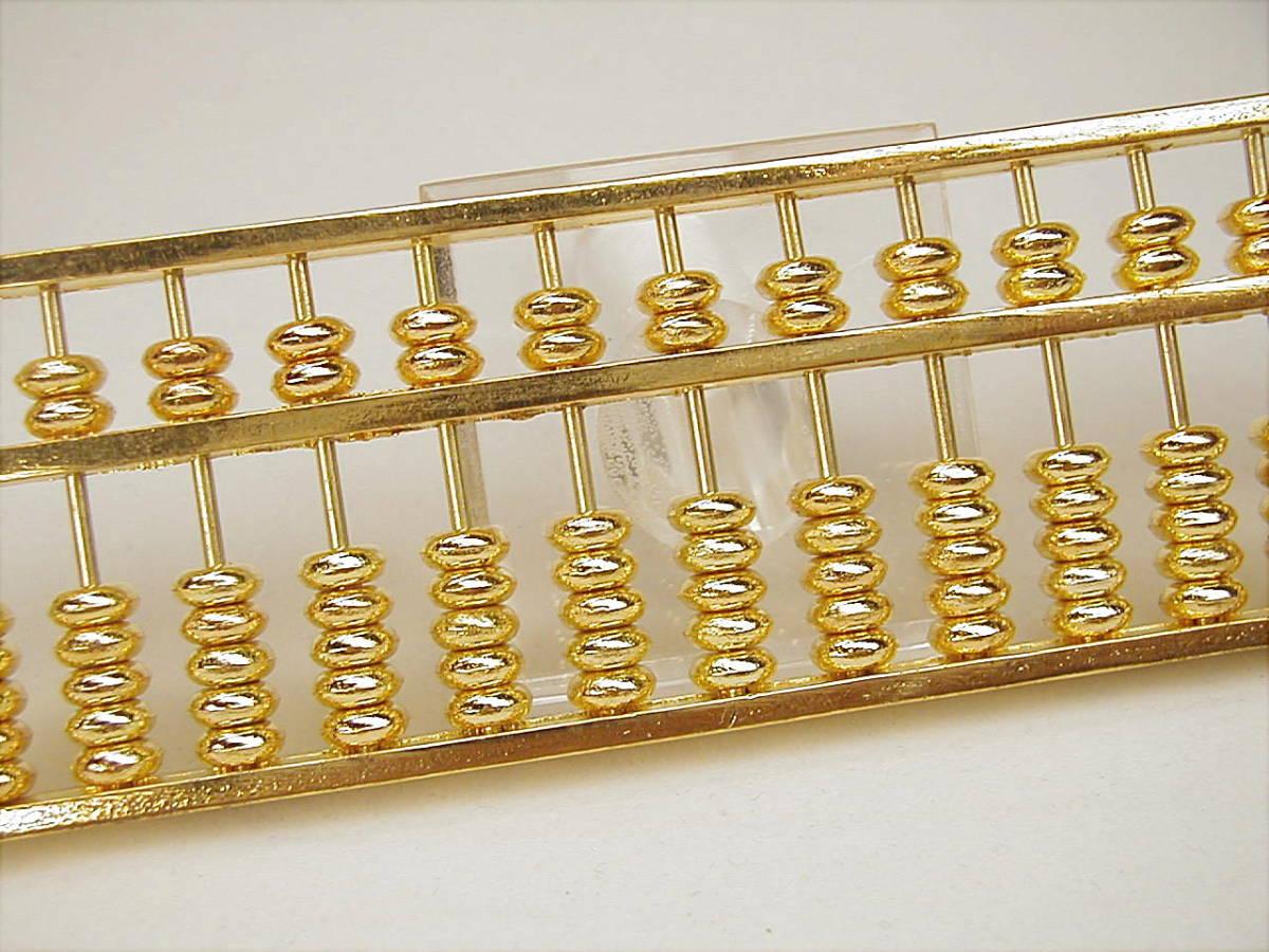 ♪即決【壽】最高級品24G.P 真鍮製13桁5玉そろばん算盤 新品 Noc2