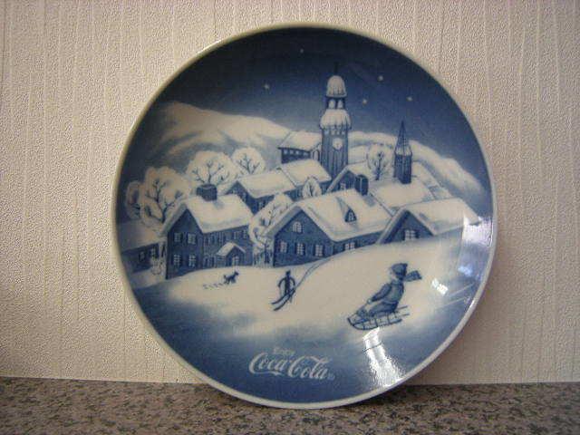 コカコーラ 雪景色小皿 6枚セット