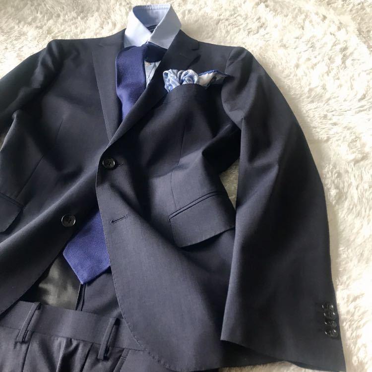 294 上品秋スーツ 肩パット無 軽量素材 英国調 エディフィスの上品 シャドーグレンチェックスーツ_画像6