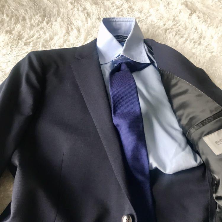 294 上品秋スーツ 肩パット無 軽量素材 英国調 エディフィスの上品 シャドーグレンチェックスーツ_画像5