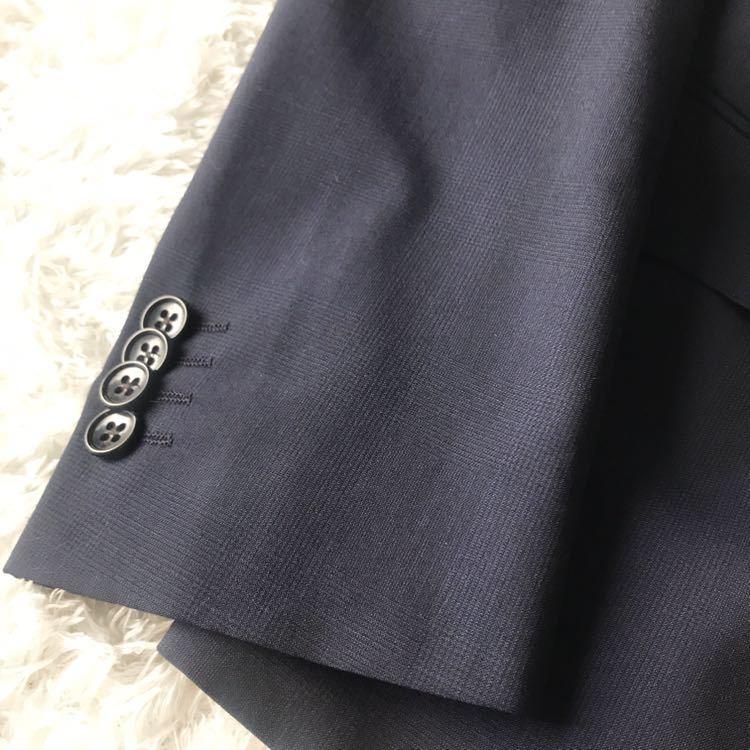 294 上品秋スーツ 肩パット無 軽量素材 英国調 エディフィスの上品 シャドーグレンチェックスーツ_画像7