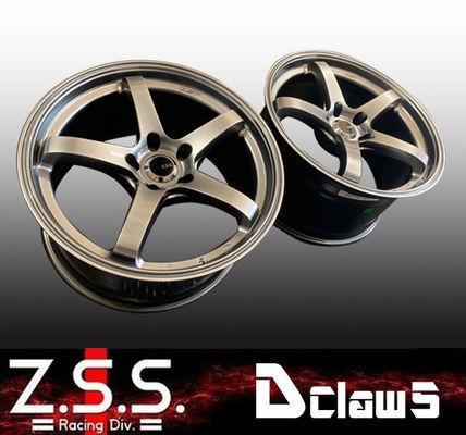 ☆Z.S.S. Dclaw5 17インチ 9.0J +22 PCD114.3 5穴 2本set ハイパーブラックシルバー ホイール シルビア R32 R33 R34 スカイライン GT-R ZSS_画像1