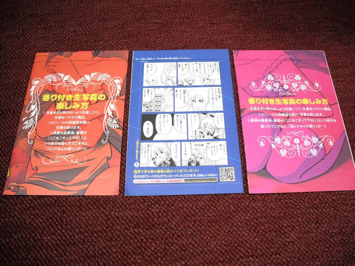 ハヤテのごとく スペシャルブック 大反省会上下 イラストカード 生写真とかセットで マリア ヒナギク_画像4