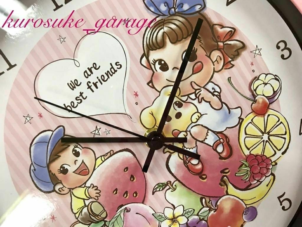 交換終了◆不二家ペコちゃん◆ペコちゃん壁掛時計◆非売品◆新品未使用品◆_画像1