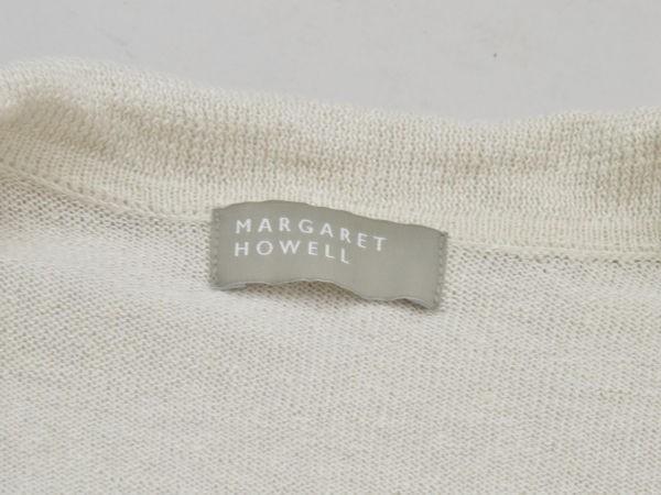 マーガレットハウエル MARGARET HOWELL リネン×コットン ニットカーディガン 2サイズ ベージュ レディース F-M10615_画像5