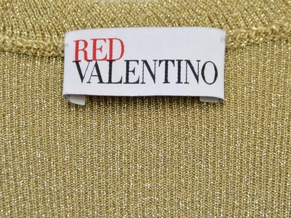レッドヴァレンティノ/ヴァレンチノ RED VALENTINO ニット ワンピース XSサイズ ラメ入りゴールド レディース F-M9937_画像4