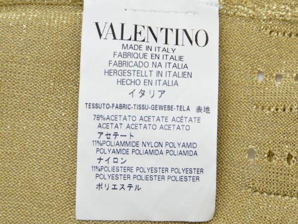 レッドヴァレンティノ/ヴァレンチノ RED VALENTINO ニット ワンピース XSサイズ ラメ入りゴールド レディース F-M9937_画像5
