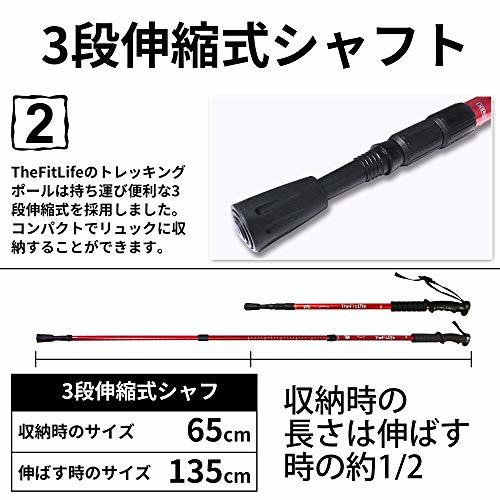 color purple TheFitLife trekking paul (pole) coarse tea mountain climbing stock nordic walking paul (pole) - super light weight three -step type .