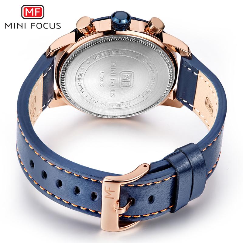 【お買い得◆最低落札価格無し◆新品未使用◆ハイブランド】MINI FOCUS 高級 メンズ クォーツ式 腕時計 防水 クロノグラフ 色選択可◆1030_画像4