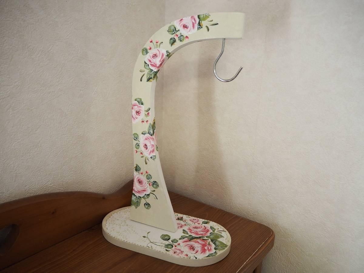 ☆トールペイント  薔薇いっぱいの バナナスタンド☆_画像2