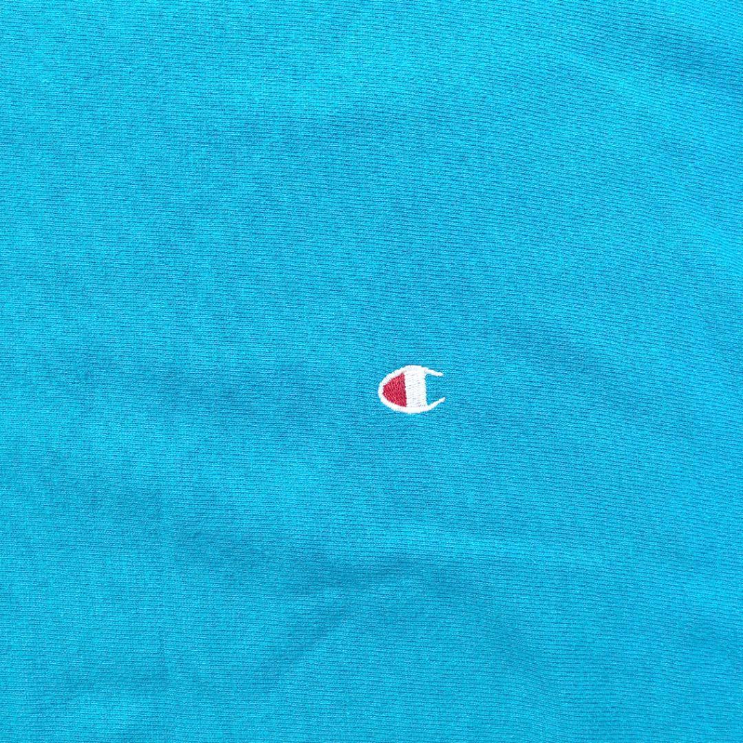 チャンピオン champion リバース スウェット ターコイズ パーカ ビンテージ Tシャツ アメリカ製 USA リバースウェーブ_画像2