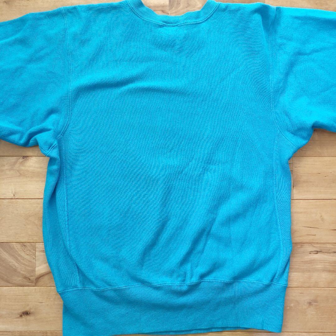 チャンピオン champion リバース スウェット ターコイズ パーカ ビンテージ Tシャツ アメリカ製 USA リバースウェーブ_画像5