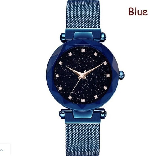 M11 星空女性腕時計ローズゴールドブレスレットラインストーンクォーツレディース腕時計薄鋼鉄女性ウエストウォッチ_画像4