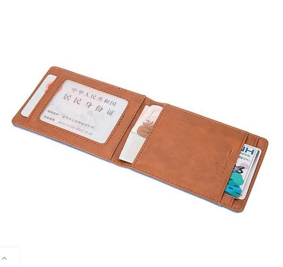 マットレザーマグネットウォレットバックル女性の財布多機能カードバッグ_画像4