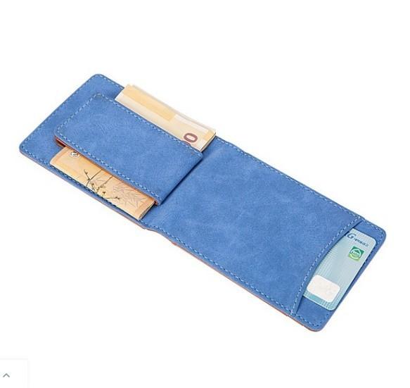 マットレザーマグネットウォレットバックル女性の財布多機能カードバッグ_画像6