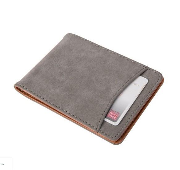 マットレザーマグネットウォレットバックル女性の財布多機能カードバッグ_画像3