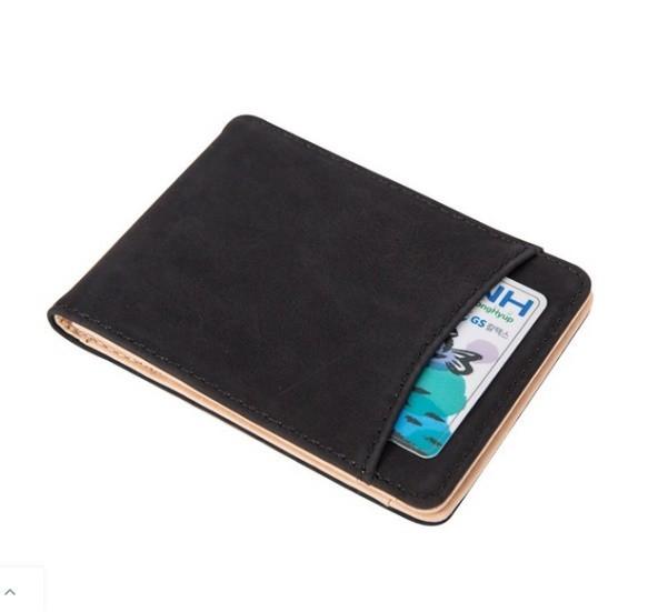 マットレザーマグネットウォレットバックル女性の財布多機能カードバッグ_画像7