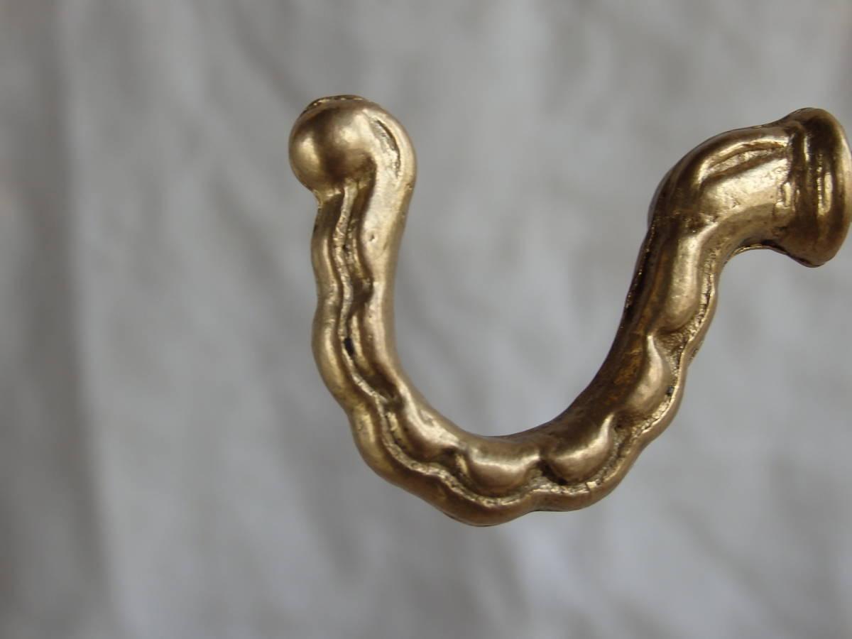 フランスアンティーク フック 10個セット ブロンズ 青銅 まとめて 取っ手 持ち手 つまみ ゴールド 蚤の市 ブロカント 仏 家具 パーツ ②_画像4