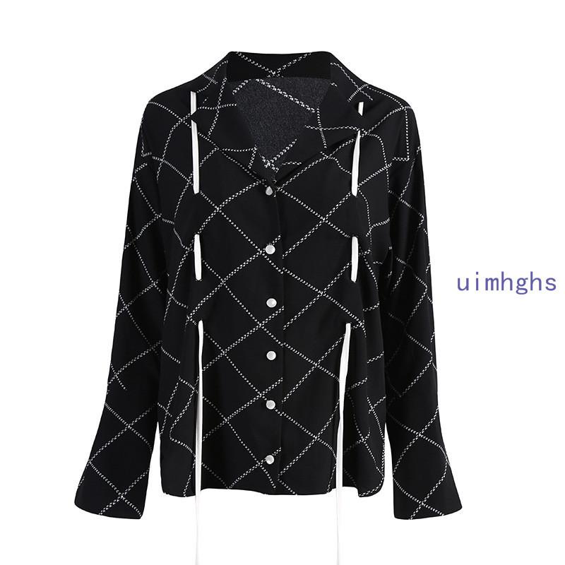 秋冬新品 特別デザイン シャツ 長袖 テーラード 引きひも ワイド身幅 ゆったり感 プリーツ カジュアル Fサイズ・カラー選択可QPOMM_画像9