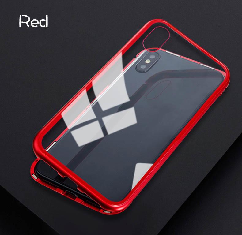 iPhone 3色 ケース カバー アルミバンパー 強化ガラス 全面保護 耐衝撃 おしゃれ 【7/8 Plus X/XS XR MAX】_画像10