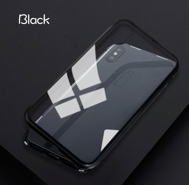 iPhone 3色 ケース カバー アルミバンパー 強化ガラス 全面保護 耐衝撃 おしゃれ 【7/8 Plus X/XS XR MAX】_画像8