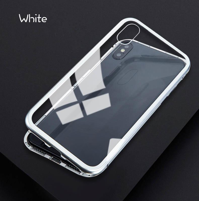 iPhone 3色 ケース カバー アルミバンパー 強化ガラス 全面保護 耐衝撃 おしゃれ 【7/8 Plus X/XS XR MAX】_画像9