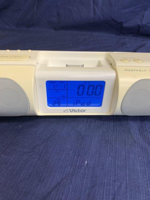 中古 現状 Victor ポータブルオーディオシステム RA-P10-W 動作品 2007年製 音出し確認済み リモコン欠品 音響機器 ビクター ☆U 60_画像8