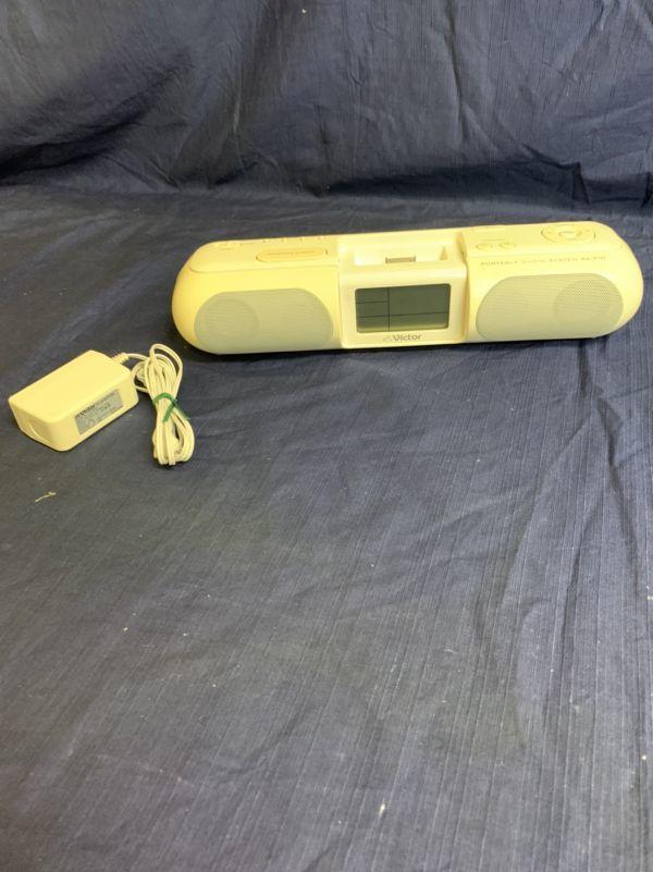中古 現状 Victor ポータブルオーディオシステム RA-P10-W 動作品 2007年製 音出し確認済み リモコン欠品 音響機器 ビクター ☆U 60_画像1