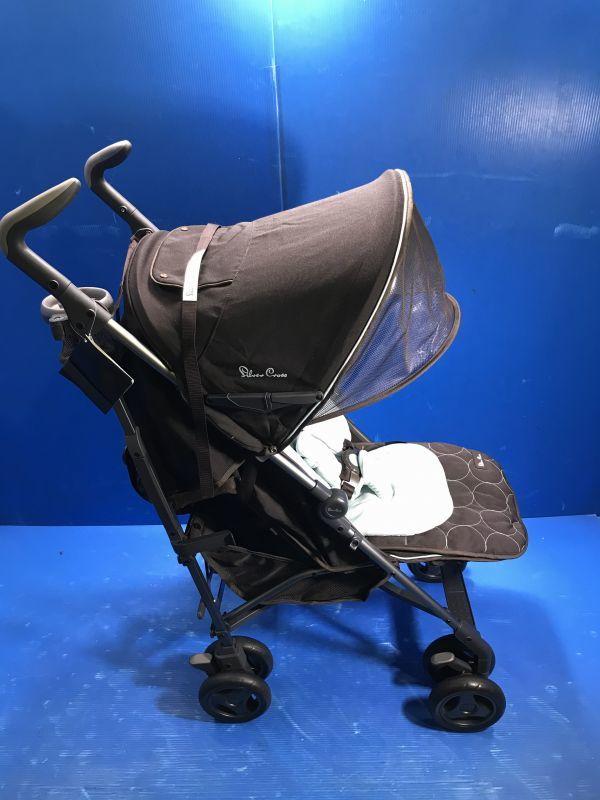 1 美品【 Silver Cross / シルバークロス 】A型ベビーカー 移動用品 赤ちゃんお散歩 重量8kg pop vogue 160_画像2