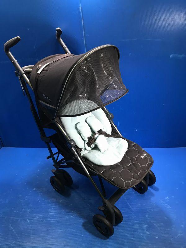 1 美品【 Silver Cross / シルバークロス 】A型ベビーカー 移動用品 赤ちゃんお散歩 重量8kg pop vogue 160_画像1
