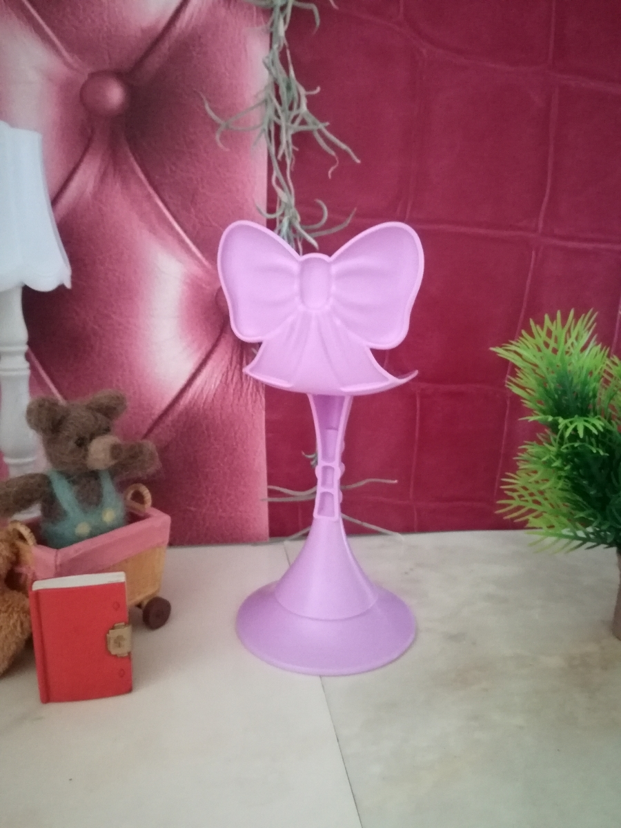 複数有 人形用小物 パープル リボン 椅子 いす イス チェア 人形用 バービー ジェニー momoko 27cmドール 1/6サイズドール_画像6